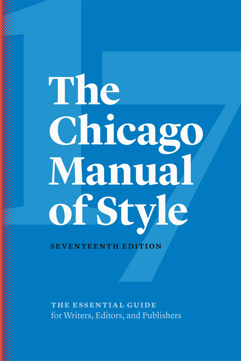 Chicago manual of style guide.