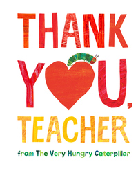 Thank You, Teacher from The Very Hungry Caterpillar