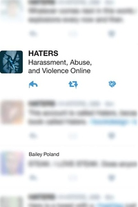 Haters : Harassment, Abuse, and Violence Online