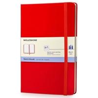 Moleskine Art Plus Sketchbook, Large, Plain, Red, Hard Cover (5 x 8.25)