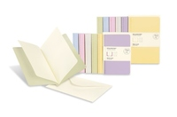 Moleskine Messages Note Card, Pocket, Plain, Frangipane Yellow, Soft Cover (3.5 x 5.5)
