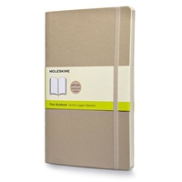 Moleskine Classic Colored Notebook, Large, Plain, Khaki Beige