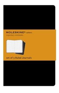 Moleskine Cahiers Set of 3 Ruled Journal