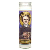 Edgar Allen Poe Secular Saint Candle