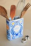 Bibliophile Ceramic Vase: Collected Curiosities