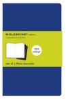 Cahier Large Plain Blue Cover