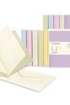 Moleskine Messages Note Card, Pocket, Plain, Frangipane Yellow, Soft Cover (3.5 x 5.5)
