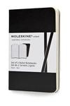 Moleskine Volant Notebook (Set of 2 ), Extra Small, Ruled, Black, Soft Cover (2.5 x 4)